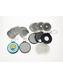 500 Badges Porte-clés Miroir avec Chainette - 25mm