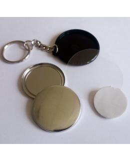 500 badges Porte-clés une Face Plastique - 25 mm