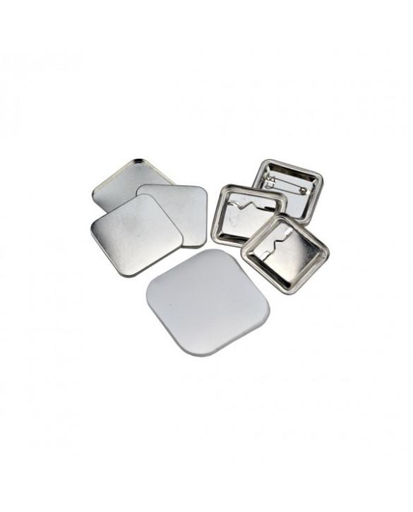 Pièces pour 100 badges 37x37mm