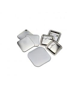 100 badges épingles 37x37mm