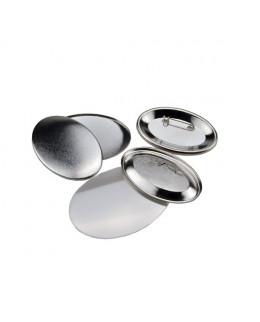Pièces pour 100 badges 65x45mm ovales