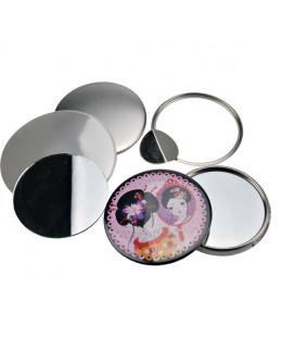 Pièces pour 100 miroirs de poche 75mm