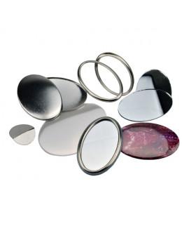 Pièces pour 100 miroirs de poche ovales 65x45mm