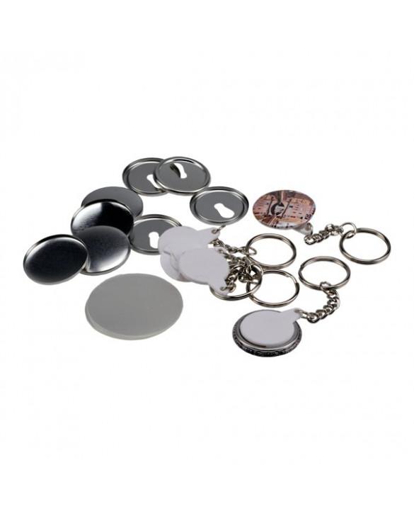 Pièces pour 100 porte-clés 32mm