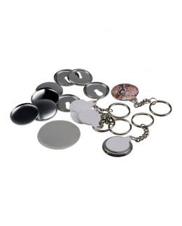 100 porte-clés 32mm