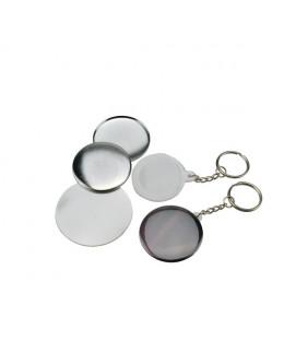 Pièces pour 200 porte-clés 34mm fonds blancs