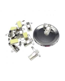 Lot de 50 clips adhésifs à pinces métal et épingles