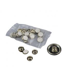 Lot de 25 clips magnétiques adhésifs diamètre 17mm