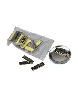 Lot de 25 barrettes adhésives aimantées métal 45x13mm