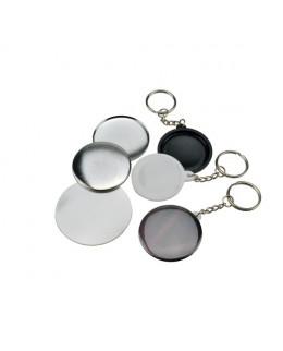Pièces pour 200 porte-clés 44mm fonds blancs ey noirs