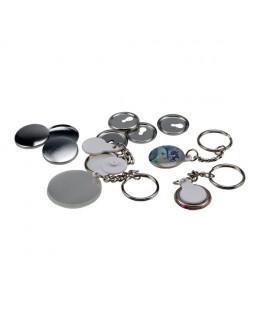 Pièces pour 100 porte-clés 25mm