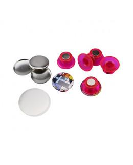 Pièces pour 50 magnets champignon 25mm base rouge