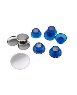 Pièces pour 50 magnets champignon 25mm base bleu