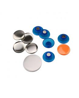 Pièces pour 50 magnets champignon 32mm base bleu