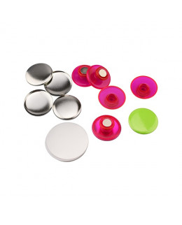 Pièces pour 50 magnets champignon 32mm base rose