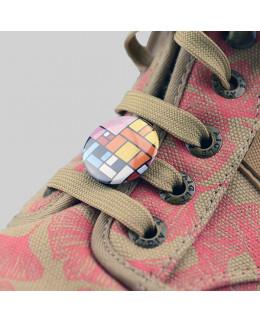 Pièces pour 100 badges 25mm pour customisation de chaussures