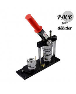 Pack 37mm machine à badges et outil de découpe