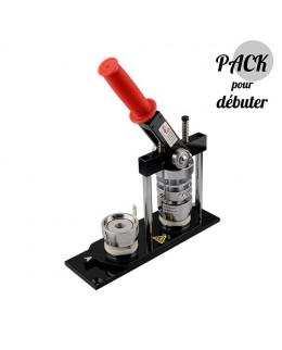 Pack 44mm machine à badges et outil de découpe