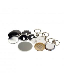 Pièces pour 100 porte-clés 37mm